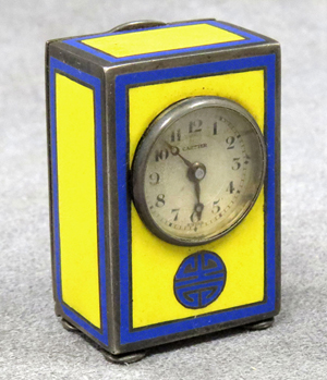 Vintage Cartier miniature travel clock. William Jenack Estate Appraisers and Auctioneers image.