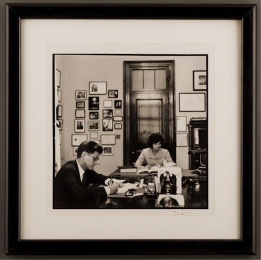 Tribute to Jackie, signed photo by Jacques Lowe. John McInnis Auctioneers image.