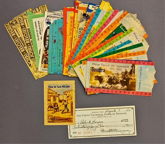 Ernest Hemingway Collection. John McInnis Auctioneers image.