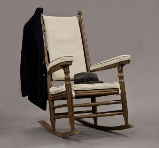 Rocking chair used by President John F. Kennedy at the 'Summer White House.' John McInnis Auctioneers image.