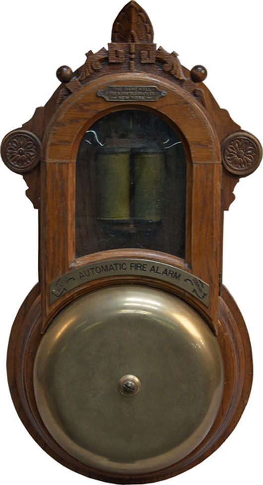 Fire alarm made by the Gamewell Fire Alarm Telegraph Co. Victorian Casino Antiques image.