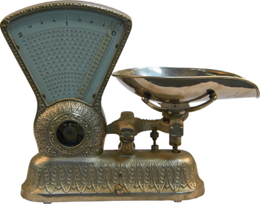 Dayton candy store scale produced by the Computing Scale Co. Victorian Casino Antiques image.