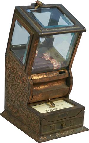 M.L. Dohan cigar vending machine. Victorian Casino Antiques image.