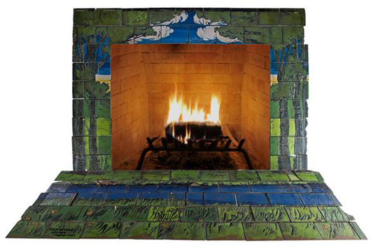 Saturday Evening Girls fireplace surround. Price realized: $219,750. Rago Arts & Auction Center image.