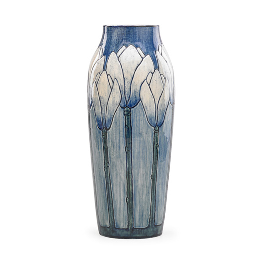Newcomb College early tall vase. Price realized: $62,500. Rago Arts & Auction Center image.