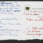 From the archive of John Lennon letters and lyrics donated to the British Library by Beatles biographer Hunter Davies, the handwritten lyrics to 'Strawberry Fields Forever' (1967). Lyrics courtesy of © Sony Music.