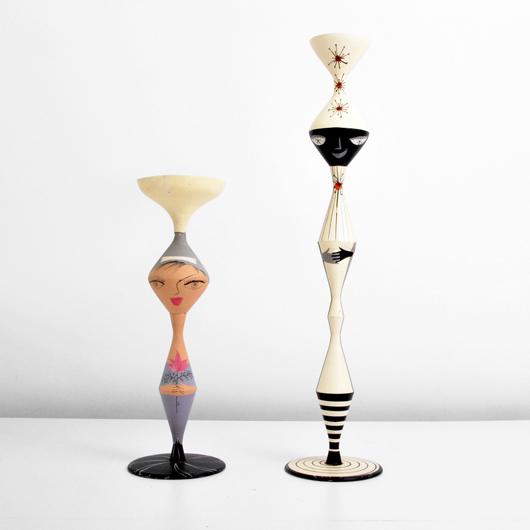 Erwine & Estelle Laverne (American) 'Golliwog' planters, est. $2,000-$3,000. Palm Beach Modern Auctions image.