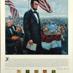 A framed 'The Gettysburg Address' offset lithograph by Mort Kunstler. Image courtesy of LiveAucitoneetrs.com and Midwest Auction Galleries Inc.