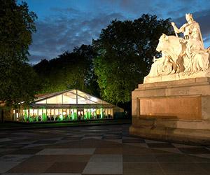 Kensington Gardens, site of Art Antiques London. Image courtesy of Haughton International Fairs