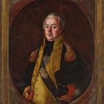 Lot 465: José Francisco Xavier de Salazar y Mendoza (Mexican/Louisiana, c.1750-1802), 'Major General James Wilkinson (1757-1825),' 1799, oil on canvas, 37 in. x 28 1/2 in. Estimate: $150,000-$250,000. Neal Auction Co. image.