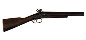 Grat Dalton's (1871-1892) WW Greener model #8167 sawed-off double-barrel shotgun. Estimate: $25,000-$35,000. California Auctioneers image.
