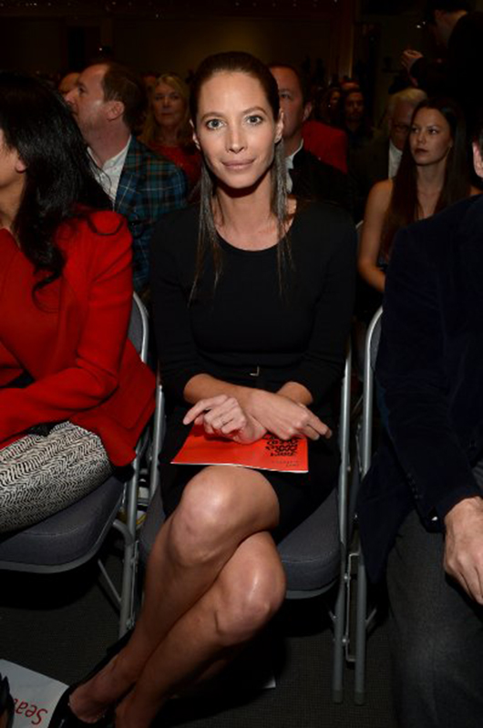 Model Christy Turlington attends Jony And Marc's (RED) Auction at Sotheby's on November 23, 2013 in New York City. Photo by Mike Coppola/Getty Images for (RED).