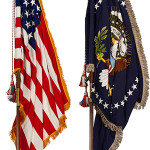 Two flags that stood in the White House Oval Office of President John F. Kennedy were auctioned by Heritage on Nov. 23, 2013 for $425,000. Image courtesy of Heritage Auctions.