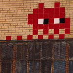 Space Invader on the Bowery, New York. Photo by Nic Garcia via Gothamist.com