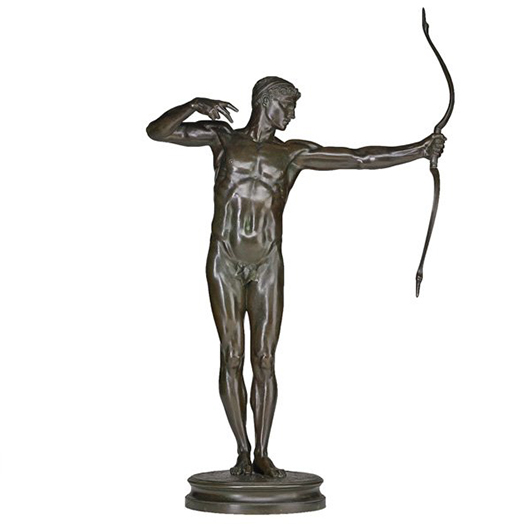 Lot 1097 - Sir William Hamo Thornycroft 'Teucer' bronze. Price realized: $32,500. Rago Arts and Auction Center image.