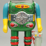 Tin litho and plastic battery-operated Change Man robot, Horikawa, Japan, comes with original box. Est. $4,000-$6,000. Morphy Auctions image.