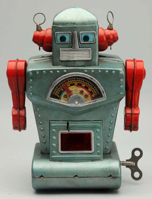 Tin litho and painted Diamond Planet Robot, Yonezawa, Japan. Est. $6,000-$9,000. Morphy Auctions image.