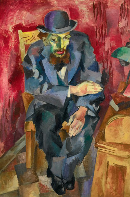 Robert Rafaelovich Falk's 'Man in a Bowler Hat (Portrait of Yakov Kagan-Shabshai),' sold by private treaty, reportedly to Russian billionaire oligarch Pyotr Aven, for an unconfirmed £6.1 million ($10 million) before Sotheby's Russian art sale on Nov. 25. Image courtesy of Sotheby's.