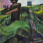 Emily Carr BCSFA CGP (Canadian, 1872-1945), 'The Crazy Stair' ('The Crooked Staircase'), oil on canvas, circa 1928-1930, 43 3/8 x 26in, auctioned by Heffel in Ottawa for Can$3.39 million on Nov. 29, 2013. Image courtesy of Heffel Fine Art Auction House.