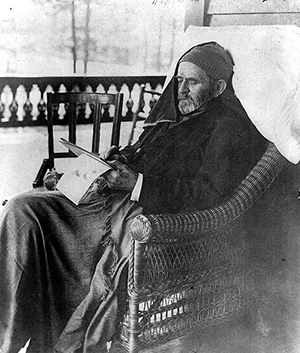 Ulysses S. Grant writing memoirs at Mount McGregor near Saratoga Springs, N.Y., in June 1885. Image courtesy of Wikimedia Commons.