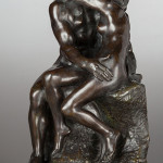Rodin's 'The Kiss' bronze nearly doubled the estimate, selling for $485,000. Heritage Auctions image.