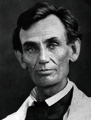 Abraham Lincoln ambrotype taken May 7, 1858 by Abraham Byers, Beardstown, Ill., prior to the Lincoln-Douglas Debates. Image courtesy of Wikimedia Commons.