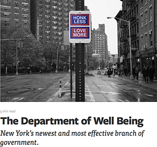 Killy Kilford and the Department of Well Being, New York City. Photo via deptofwellbeing.com.
