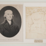Survey or plat of 'Indian Camp' in Albermarle County, Virginia, in the hand of Thomas Jefferson. Sold for $35,400 (inclusive of 18% buyer's premium) on Dec. 14, 2013 at Quinn & Farmer in Charlottesville, Virginia. Image courtesy of Quinn & Farmer.
