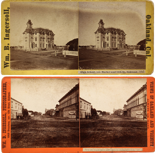A large and extensive collection of primarily stereo views of local landmarks, landscapes and city views sold for $10,115. Clars Auction Gallery image.