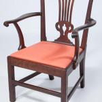 Important Petersburg, Va., Chippendale black walnut armchair, circa 1775. Price realized: $34,500. Jeffrey Evans & Associates image.