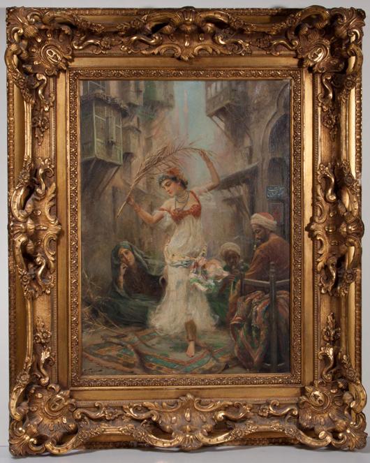 Fabio Fabbi (Italian, 1861-1946) Orientalist painting, oil on canvas. Price Realized: $25,300. Jeffrey Evans & Associates Image.