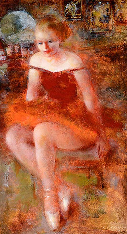 Grigory Gluckmann (Russian-born Californian 1898-1973), 'Firebird.' Price realized: $20,060. Michaan's Auctions image.