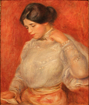 'Graziella' by Pierre Auguste Renoir, 1896, oil on canvas, Detroit Institute of Arts. Image courtesy of Wikimedia Commons.