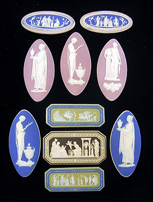Examples from a collection of Wedgwood to be offered in 60 lots. Stephenson's Auctioneers image.
