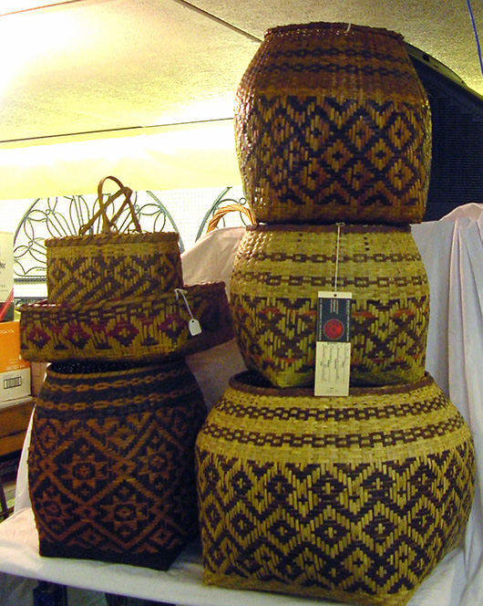 More than 125 Cherokee Indian baskets are included in the auction. John W. Coker Auctions image.