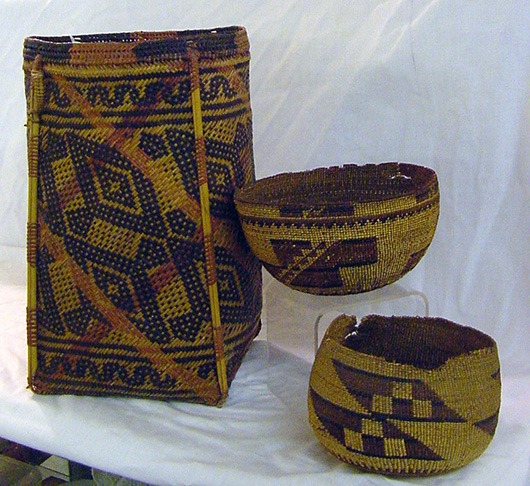 From a collection of Western Indian baskets. John W. Coker Auctions image.