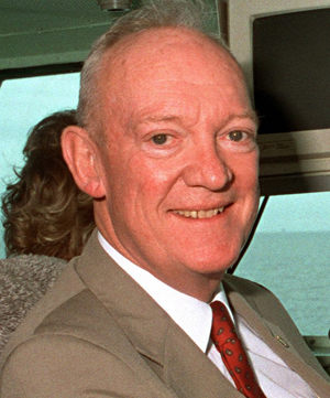 John Eisenhower in 1990. Image by Paul Savelli, U.S. Department of Defense, courtesy of Wikimedia Commons.