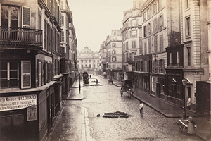 Charles Marville (French, 1813–1879), 'Rue de Constantine (fourth arrondissement),' 1866, albumen silver print from glass negative.The Horace W. Goldsmith Foundation Fund, through Joyce and Robert Menschel, 1986. The Metropolitan Museum of Art (1986.1141).