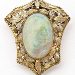 Opal Victorian brooch, 8 carats. Price realized: $1,100. Cordier Auctions image.