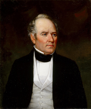 Most known images of Sam Houston (1793-1863) show the 1st President of the Republic of Texas as a middle-aged or older man. This portrait of Houston by Thomas Flintoff (1809-1892) was painted between 1849 and 1853. Current location of painting: Museum of Fine Arts, Houston.