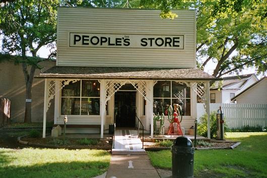The People's Store at Pioneer Village in Minden, Nebraska. Photo by Rolf Blauert.