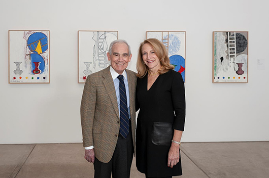 Keith L. and Katherine Sachs, whose collection of contemporary art has been acquired by the Philadelphia Museum of Art. Philadelphia Museum of Art image.