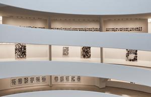 Installation view: Christopher Wool, Solomon R. Guggenheim Museum, through Jan. 22. Photo: Kristopher McKay © Solomon R. Guggenheim Museum, New York.