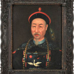 China Trade oil on canvas portrait of influential Chinese statesman Aison Gioro Keying, circa 1840. Estimate: $15,000-$25,000. Pook & Pook Inc. image.