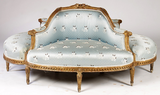Lot 662 - carved and giltwood borne in the Louis XVI taste, circa 1910. Kamelot Auction House image.