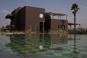 The Fellah Hotel in its exotic setting in Marrakech, Morocco. Image courtesy of the Fellah Hotel.