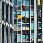 Amy Park, 'Concrete and Glass Midtown East,' watercolor on paper, 32 x 22 inches. Copyright Griffin Gallery.