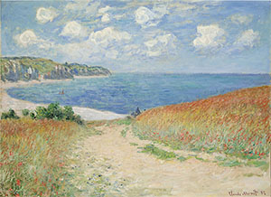Claude Monet, 'Path in the Wheat Fields at Pourville,' 1882. Bequest of Frederic C. Hamilton.