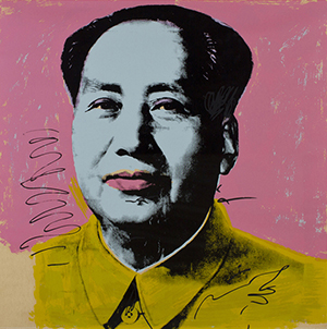 Andy Warhol (American, 1928-1987) original screen print 'Mao #91,' 1972, 36 inches square, numbered 56/250, Styria Studio, est. $35,000-$50,000. Myers Fine Art image.