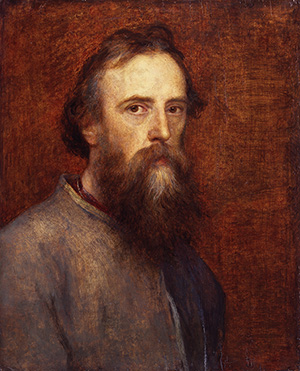 George Frederic Watts by George Frederick Watts, circa 1860. Copyright National Portrait Gallery, London.